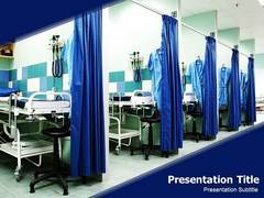 Hospital Beds PowerPoint Backgrounds