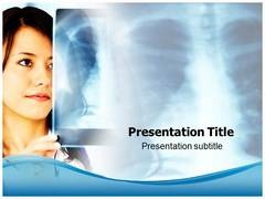 Nurse with X-Ray PowerPoint Backgrounds