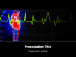 ECG Heart PowerPoint Template, ECG Heart PowerPoint Slide Templates