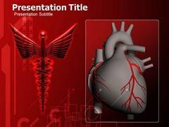 Heart With Logo PowrPoint Slide, Heart With Logo powerpoint Slide Templates