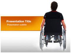 Wheelchair Man Template PowerPoint