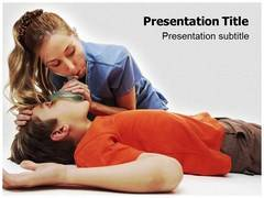 CPR Cardiopulmonary Template PowerPoint, CPR Cardiopulmonary PowerPoint Slide Templates