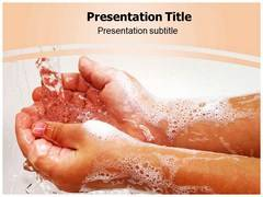 Washing Hand PowerPoint Background
