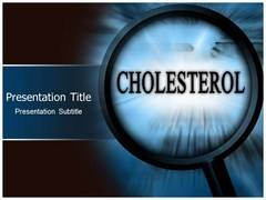 Cholesterol PowerPoint Template, Cholesterol Backgrounds For PowerPoint Slides
