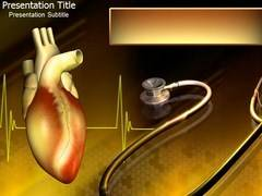 Heart and Stethoscope PowerPoint Backgrounds, Heart and Stethoscope PowerPoint Background Templates