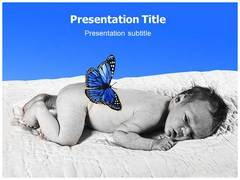 Sleeping Baby PowerPoint Backgrounds