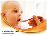 Feeding Baby Template PowerPoint