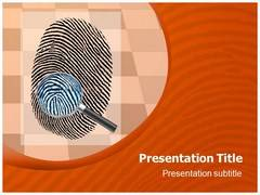 Thumbprint Template PowerPoint