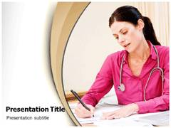 Health Record PowerPoint Background