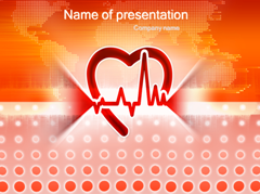 Healthy Beats Of Heart PowerPoint Backgrounds,  Healthy Beats Of Heart Backgrounds for Power Point Slides