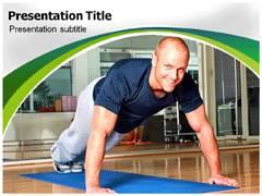 Men Fitness Template PowerPoint