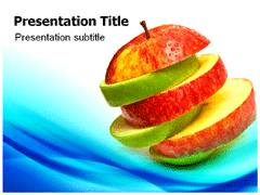 Apple Fruit Facts PowerPoint Backgrounds