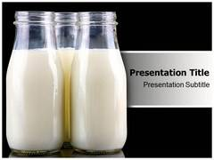 Milk Bottle Template PowerPoint