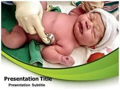 Newborn Baby Health PowerPoint Background