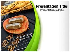 Herbal Pills PowerPoint Background