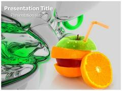 Apple Fruit Nutrition Template PowerPoint