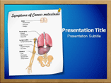 Cancer Symptoms PowerPoint Background