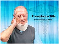 Cervical Neck Pain PowerPoint Backgrounds