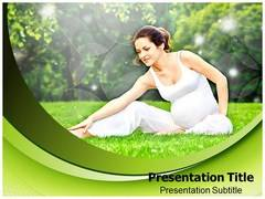 Pregnancy Exercise PowerPoint Background