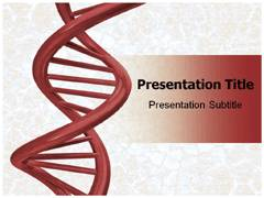 DNA Strand Model PowerPoint Background