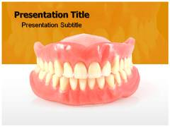 Denture Fabrication PowerPoint Template