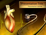 Heart Stethoscope PowerPoint Template, Heart Stethoscope PowerPoint Slide Design