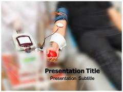 Blood Donating Template PowerPoint
