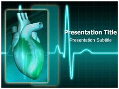 Electrocardiogram PowerPoint Template, Electrocardiogram PowerPoint Slide Templates