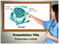 Eye Pressure Template PowerPoint