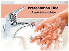 Wash Hands Template PowerPoint