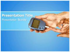 Diabetes Check Template PowerPoint