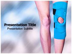 Knee Brace PowerPoint Design