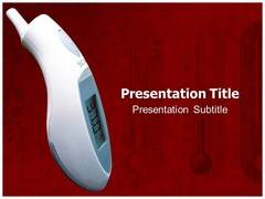 Wireless Thermometer PowerPoint Theme