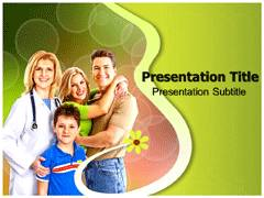 Healthy Family Template PowerPoint