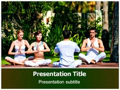 Yoga Benefits PowerPoint Background