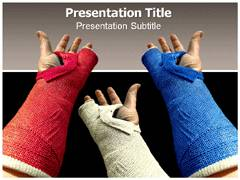 Hand Plaster Template PowerPoint