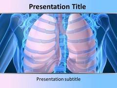 Human Lungs PowerPoint Background