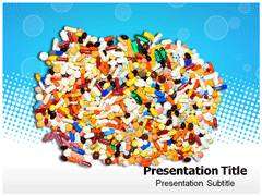 Colorful Pills PowerPoint Background