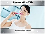 Clean Teeth PowerPoint Template, Clean Teeth PowerPoint Backgrounds