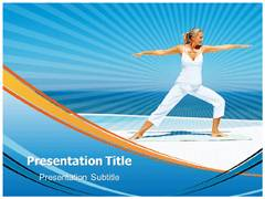 Power Yoga PowerPoint Backgrounds