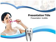 Tooth Brushing Technique Templates PowerPoint, Tooth Brushing Technique Backgrounds For PowerPoint Slides
