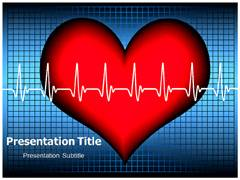 Heartbeat PowerPoint Template, Heartbeat Power Point Background Templates
