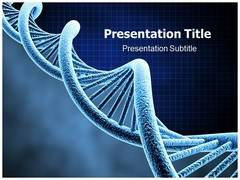 DNA Genes PowerPoint Background