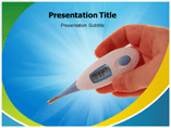 Digital Thermometer PowerPoint Theme