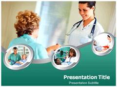 Home Nurse Template PowerPoint