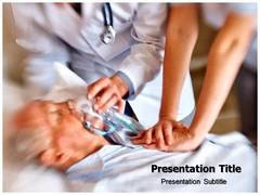 Heart Attack Treament PPT Template, Heart Attack Treament PowerPoint Slide Templates