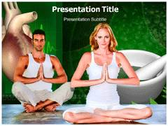 Yoga and Heart PowerPoint Templates, Yoga and Heart Templates For PowerPoint