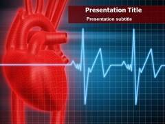 Heart Line PowerPoint Templates, Heart Line PowerPoint Slide Design