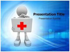 First Aid Symbol PowerPoint Background