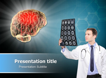 Human Brain Damage PowerPoint Template